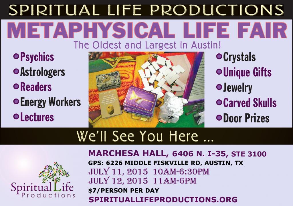 Austin Metaphysical Life Fair - Spiritual Life Productions - Texas