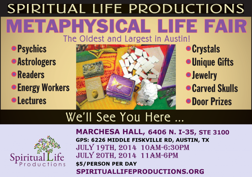 Austin Metaphysical Fair April 2014 - Spiritual Life Productions